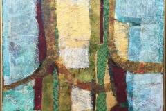 Komposisjon Blandingsteknikk (60x70 cm) kr 7500