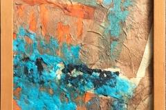 Liten komposisjon II Collage (22x22 cm) kr 1500 mr