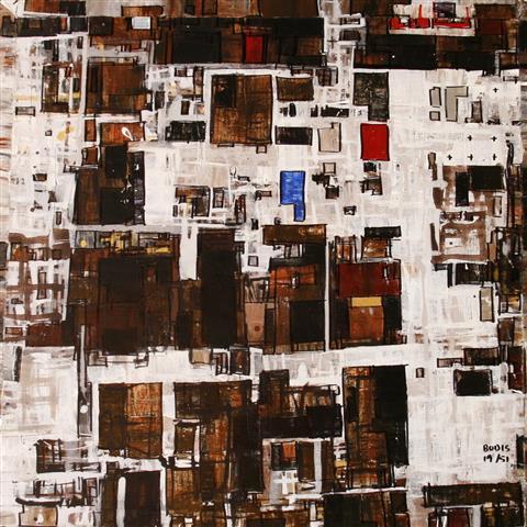 By 19(c) Akrylmaleri 60x60cm 4500,-kr u.r.