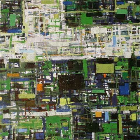 By 22(1) Akrylmaleri 60x60cm 4500,-kr u.r.