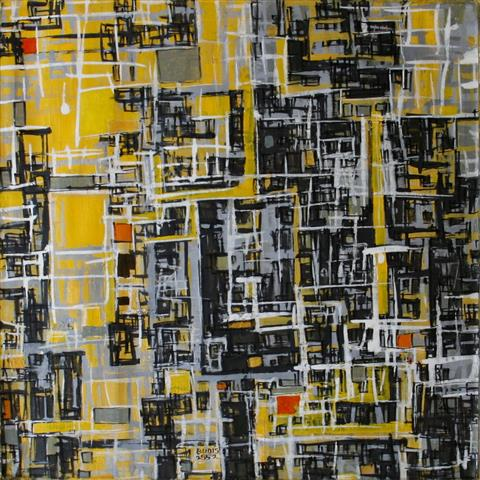 By 2552(2) Akrylmaleri 60x60cm 4500,-kr u.r.
