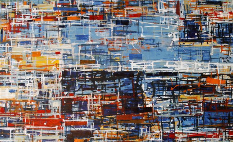 By 26 (1) Akrylmaleri 60x100cm 6000,-kr u.r.