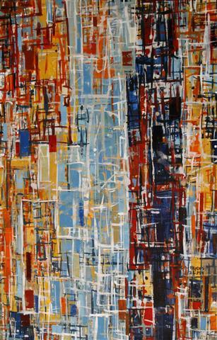 By 26 (3) Akrylmaleri 100x60cm 6000,-kr u.r.
