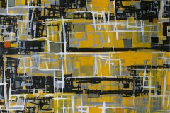 By 2552(1) Akrylmaleri 60x60cm 4500,-kr u.r.
