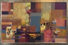 Amber Composition Akrylmaleri (68x108 cm) kr 25000 mr