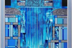 Waterfall Akrylmaleri (100x100 cm) kr 32000 mr