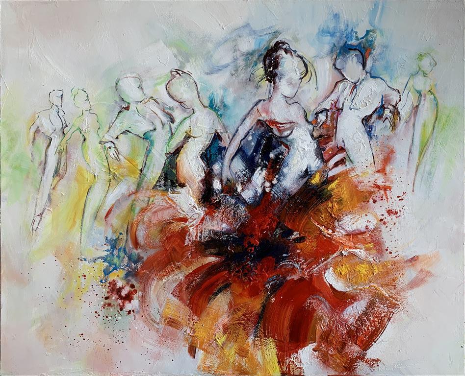 Les danseurs – Dansere Oljemaleri (81x100 cm) kr 53000 ur