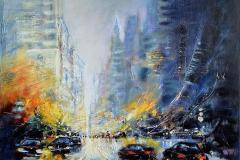 New York Oljemaleri (81x100 cm) kr 53000 ur