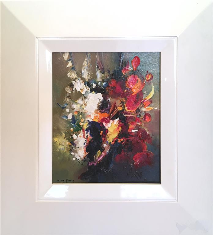 Fleurs rouges Maleri (27x22 cm) kr 10000 mr
