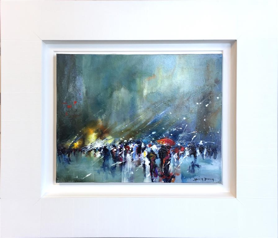 La pluie Maleri (33x41 cm) kr 14000 mr