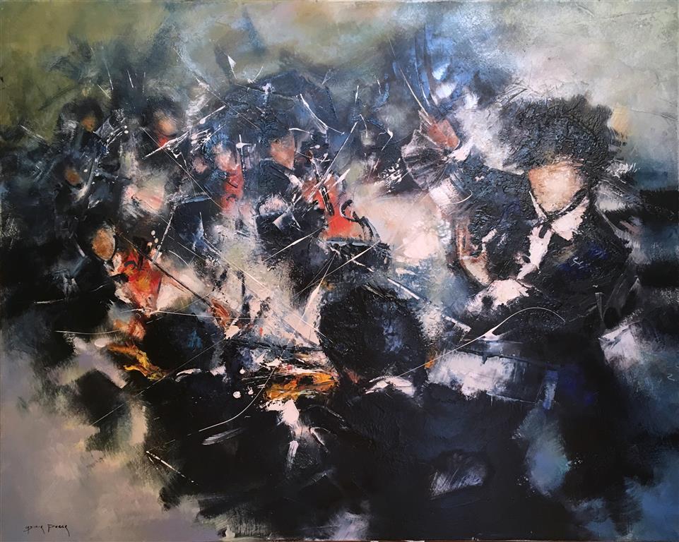 Le chef d'orchestre Maleri (73x92 cm) kr 42000 ur