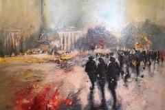 Automne au Trocadéro Maleri (73x92 cm) kr 42000 ur