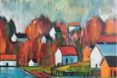 Fra Tananger Oljelmaleri (40x40 cm) kr 3500 ur