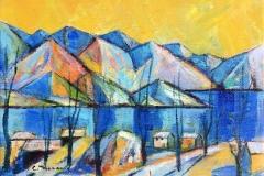 Vinter Akrylmaleri (35x47 cm) kr 3500 ur