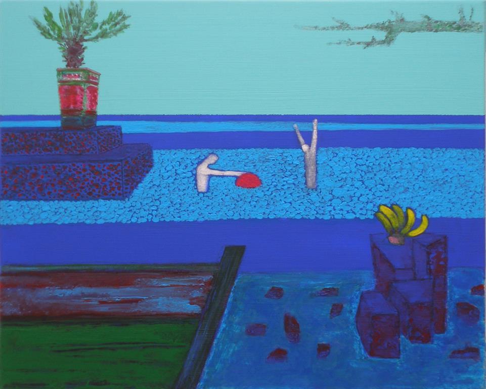 Shoreline III Akryl på lerret (40x50 cm)