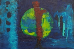 Organic circle II Akryl på lerret (40x40 cm)