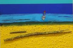 Shoreline V Akryl mixed media på lerret (47x55 cm) kr 8000 ur