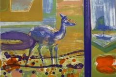 Deer Litografi 37x51cm 3300,-kr u.r.