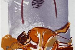 Natt Litografi 17x11cm 450,-kr u.r.