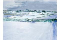 Stillhet – nysno digigrafikk 56x61 pris 4600
