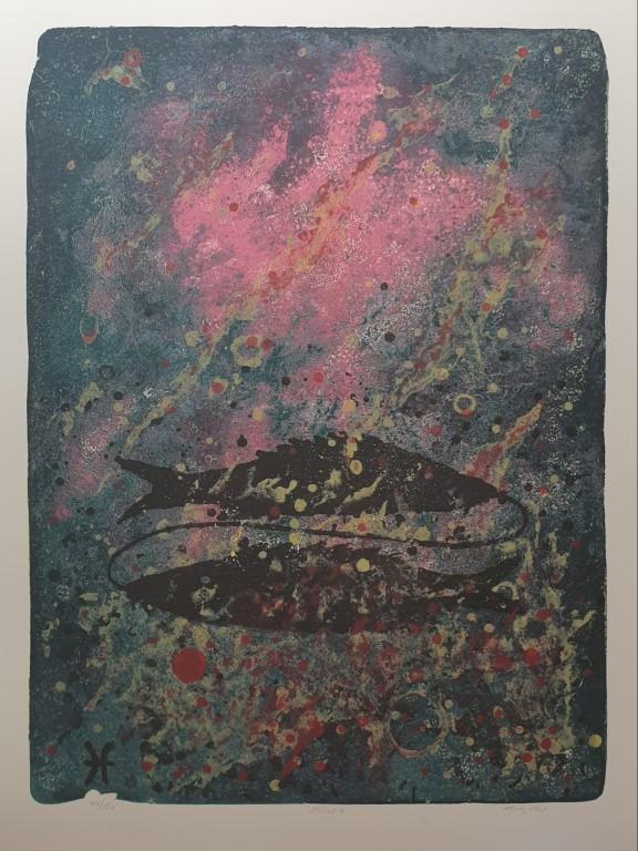 Fiskene (Jeg tror) Litografi (65x48 cm) kr 3800 ur