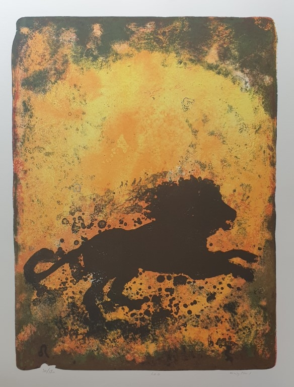 Løven (Jeg vil) Litografi (65x48 cm) kr 3800 ur