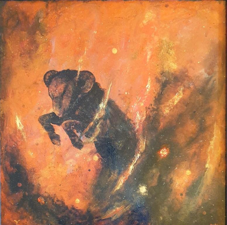 Væren (Jeg er) Oljemaleri (60x60 cm) kr 36000 mr