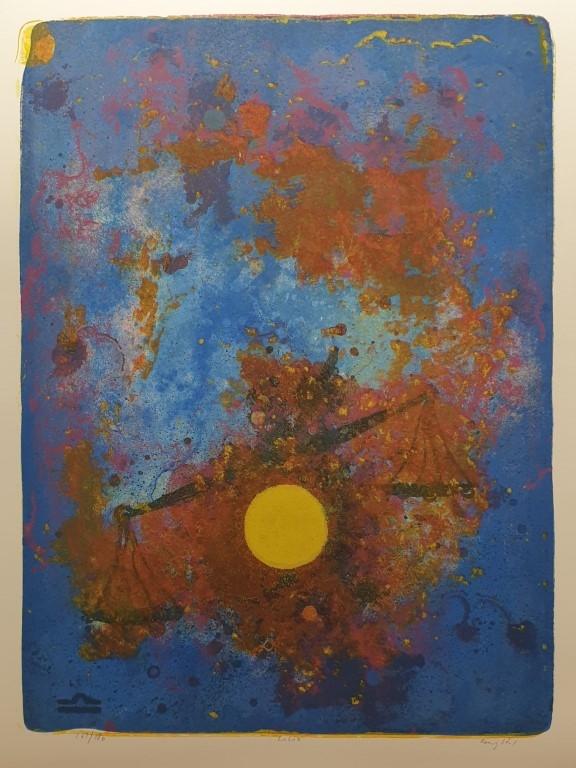 Vekten (Jeg veier) Litografi (65x48 cm) kr 3800 ur