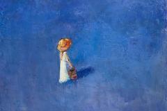 Blåbærpiken Maleri (38x46 cm) kr 10000 ur