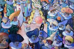 Festspill Maleri (130x140 cm) kr 55000 ur