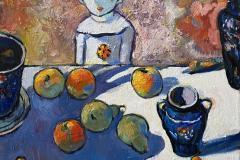 Gutten og frukter Maleri (67x57 cm) kr 13000 ur