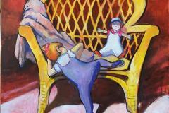 Kurvstolen Maleri (120x100 cm) kr 30000 ur