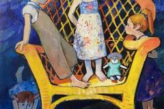 Lekekatt Maleri (120x100 cm) kr 30000 ur