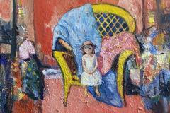 Omkledningsrommet Maleri (60x55 cm) kr 12000 ur