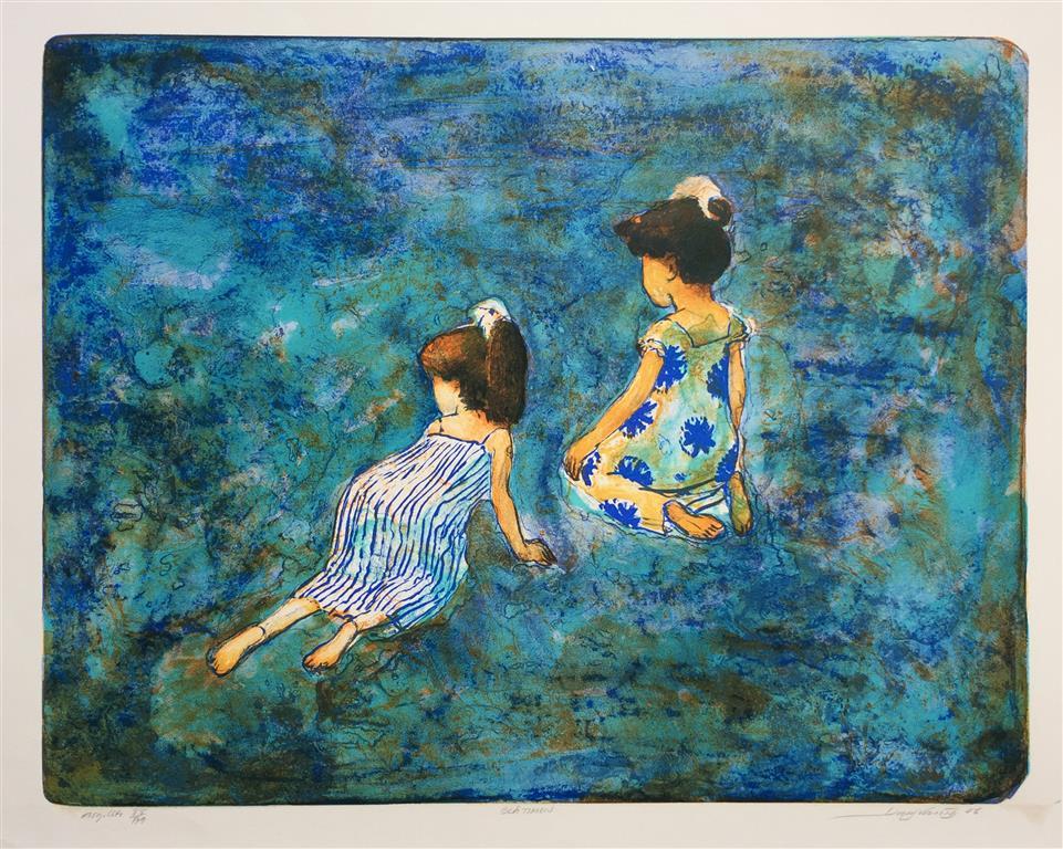 Blå timen Litografi (49x63 cm) kr 2800 ur