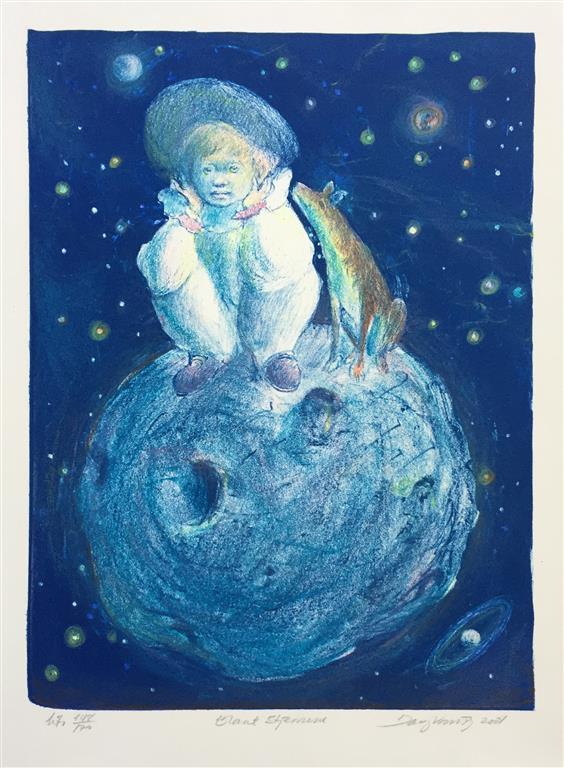 Blant stjernene Litografi (31x23 cm) kr 1500 ur