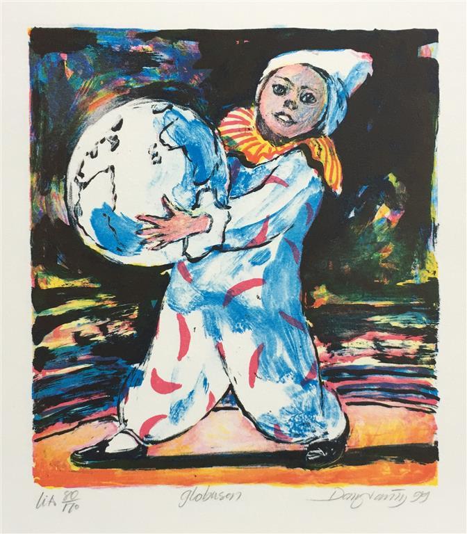 Globusen Litografi (20x18 cm) kr 900 ur