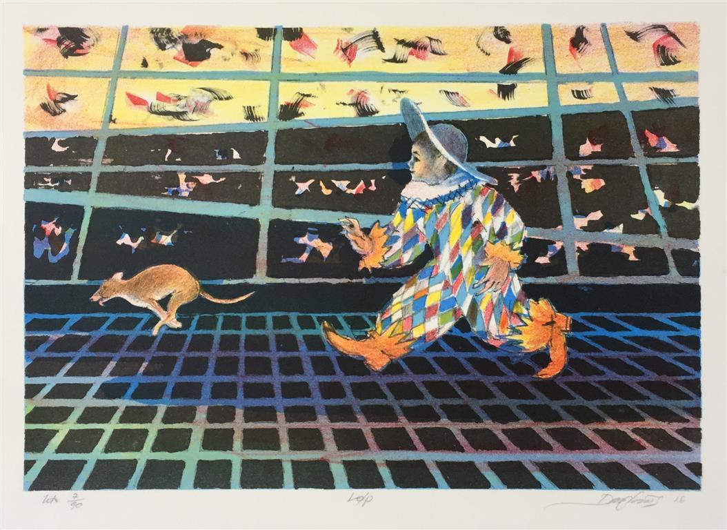 Løp Litografi (23x32 cm) kr 1500 ur