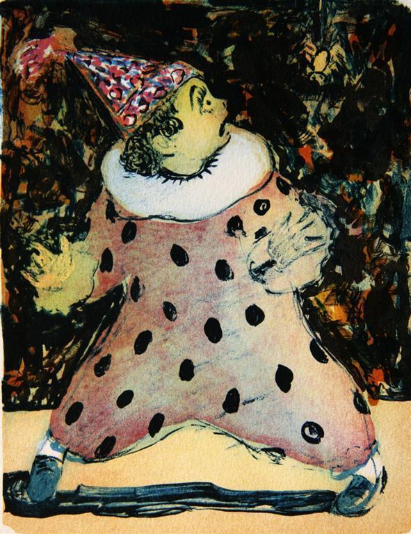 Redd klovn Litografi (18,5x14,5 cm) kr 900 ur