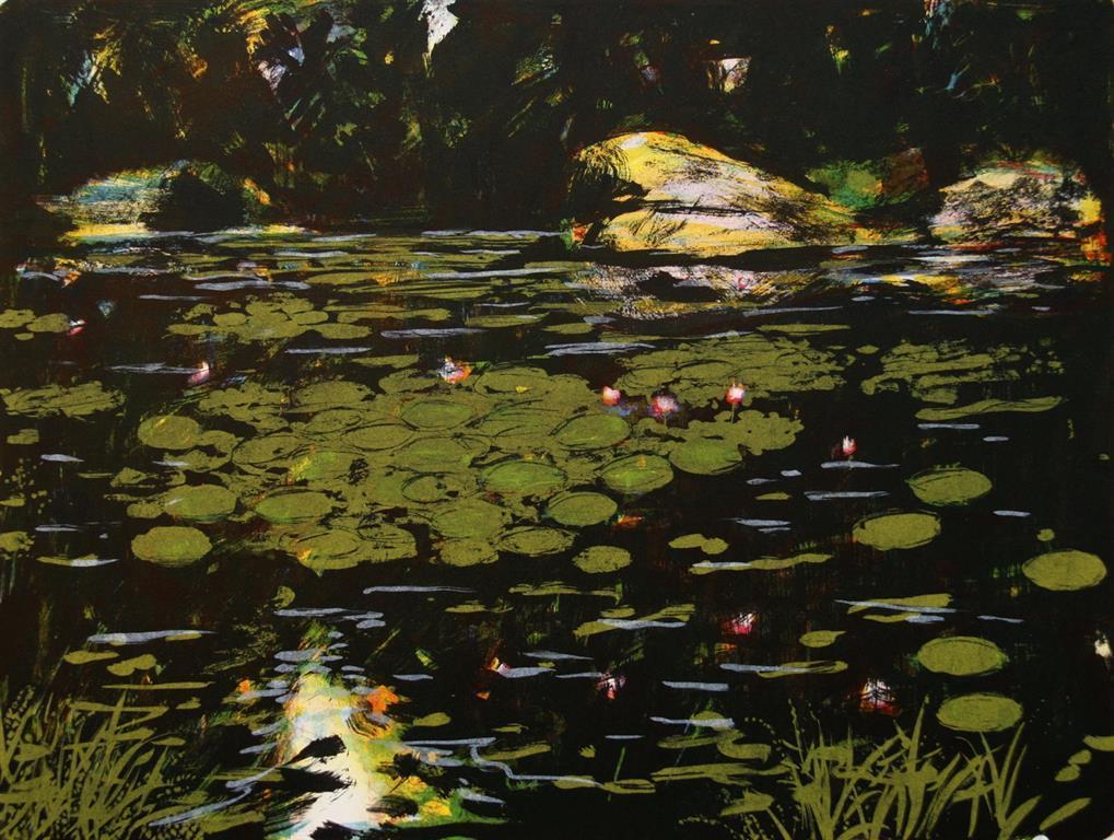 Water-lilies Litografi (36x48 cm) kr 2800 ur