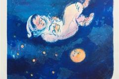 Godnattsøvn Litografi (21x24 cm) kr 1200 ur