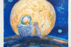 La luna Litografi (43x34,5 cm) kr 2600 ur