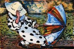 Medvind Litografi (12x17 cm) kr 800 ur