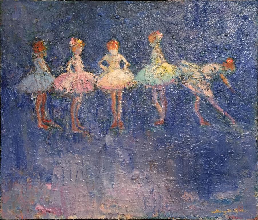 Danseklassen Maleri (58x68 cm) kr 13000 mr