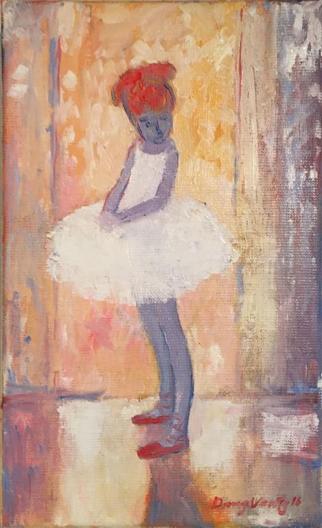 Den store danserinne Maleri (30x20 cm) kr 3000 ur