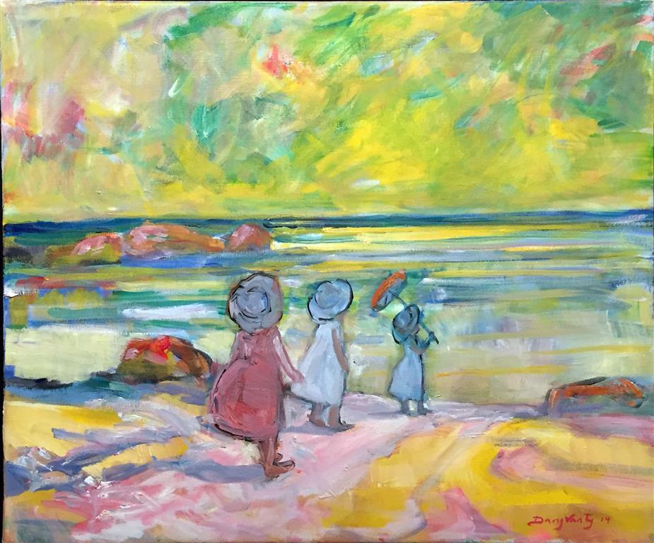 Til stranden Maleri (46x55 cm) kr 10000 mr