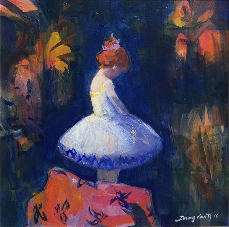 Ung ballerina Maleri (39x39 cm) kr 8000 mr
