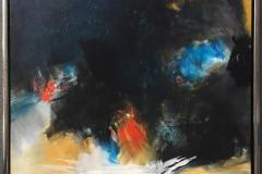 Arne Gundestrup Sort sol Akrylmaleri (80x60 cm) kr 4800 mr