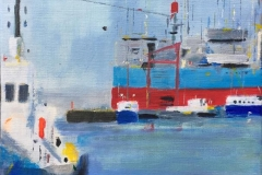 Astrid Hygom Esbjerg Havn II Akrylmaleri (50x40 cm) kr 4900 ur