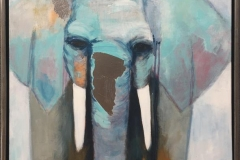 Connie Borgen Elefant I Akrylmaleri (80x60 cm) kr 6000 mr
